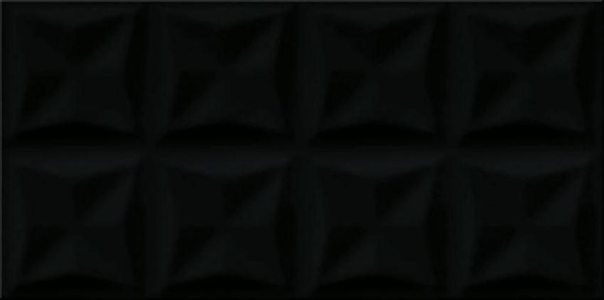 Płytka ścienna Opoczno origami black glossy structure OP658-016-1