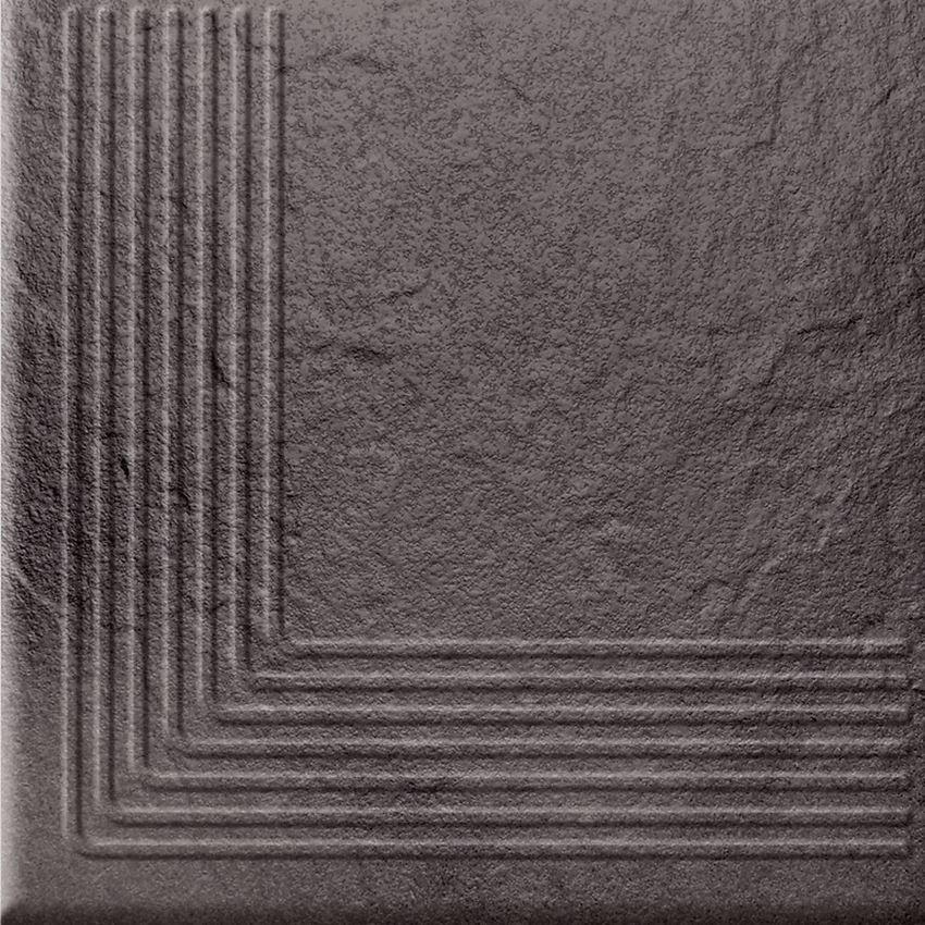 Płytka stopnicowa 30x30 cm Opoczno Solar Graphite Stop Nar 3-D
