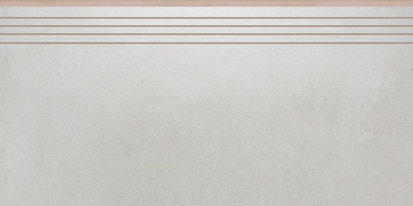 Płytka stopnicowa 29,7x59,7 cm Cerrad Tassero bianco lappato