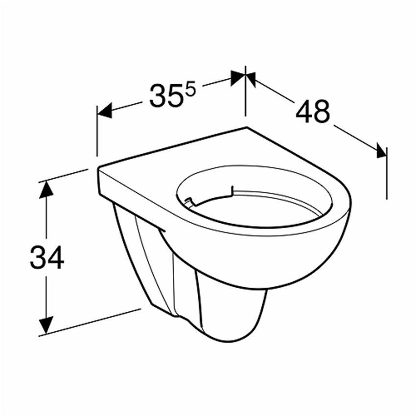 Miska WC Rimfree bez deski Koło Nova Pro Pico rysunek