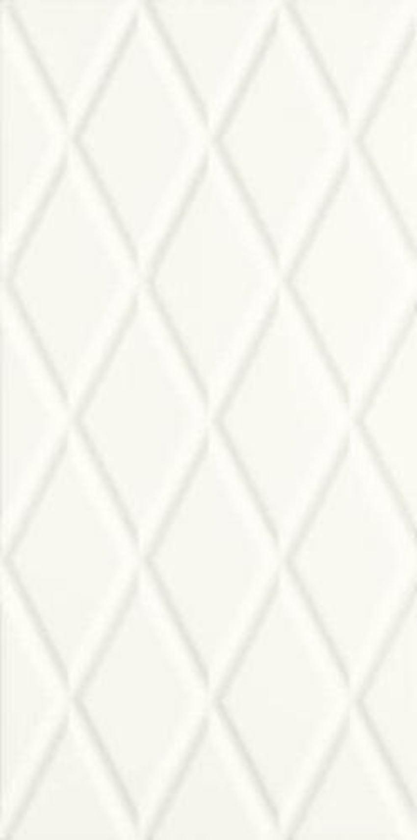 Płytka ścienna 29,5x59,5 cm Paradyż Moonlight Bianco Ściana B Struktura Rektyfikacja
