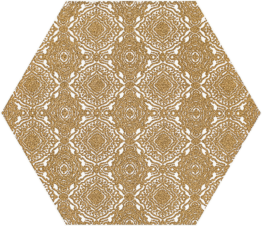 Dekoracja 17,1x19,8 cm Paradyż Shiny Lines Gold Heksagon Inserto E
