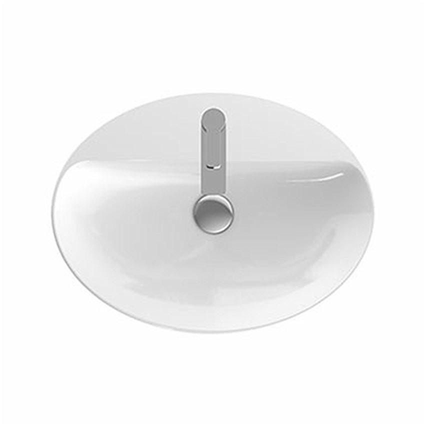 Umywalka stawiana na blat 60x45 cm owalna, z otworem bez przelewu Koło VariForm