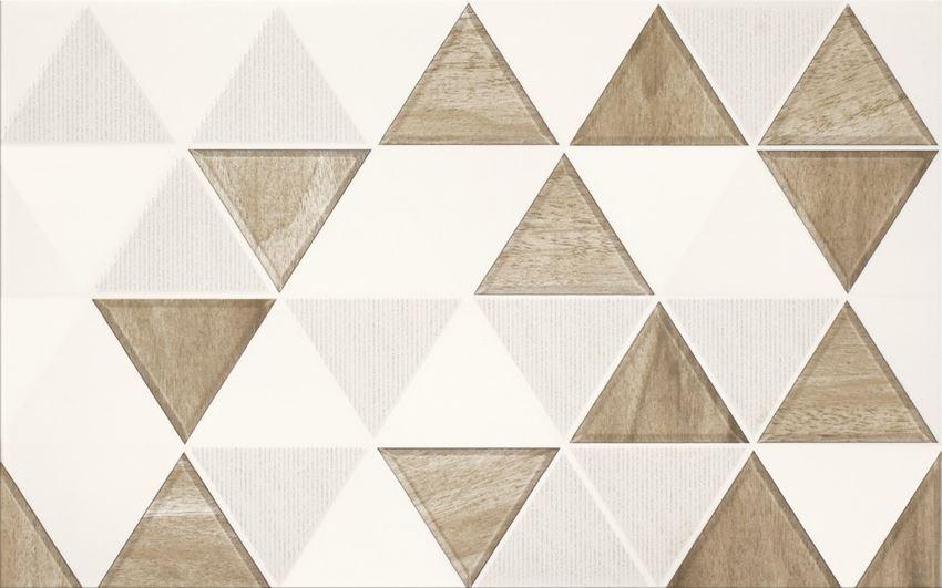 Płytka dekoracyjna 25x40 cm Cersanit Arezzo inserto triangle