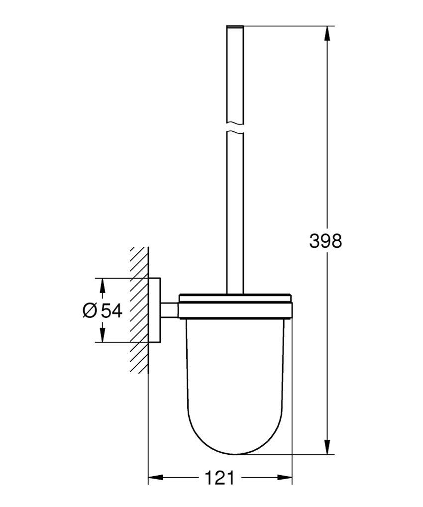 Szczotka toaletowa Grohe Essentials rysunek techniczny