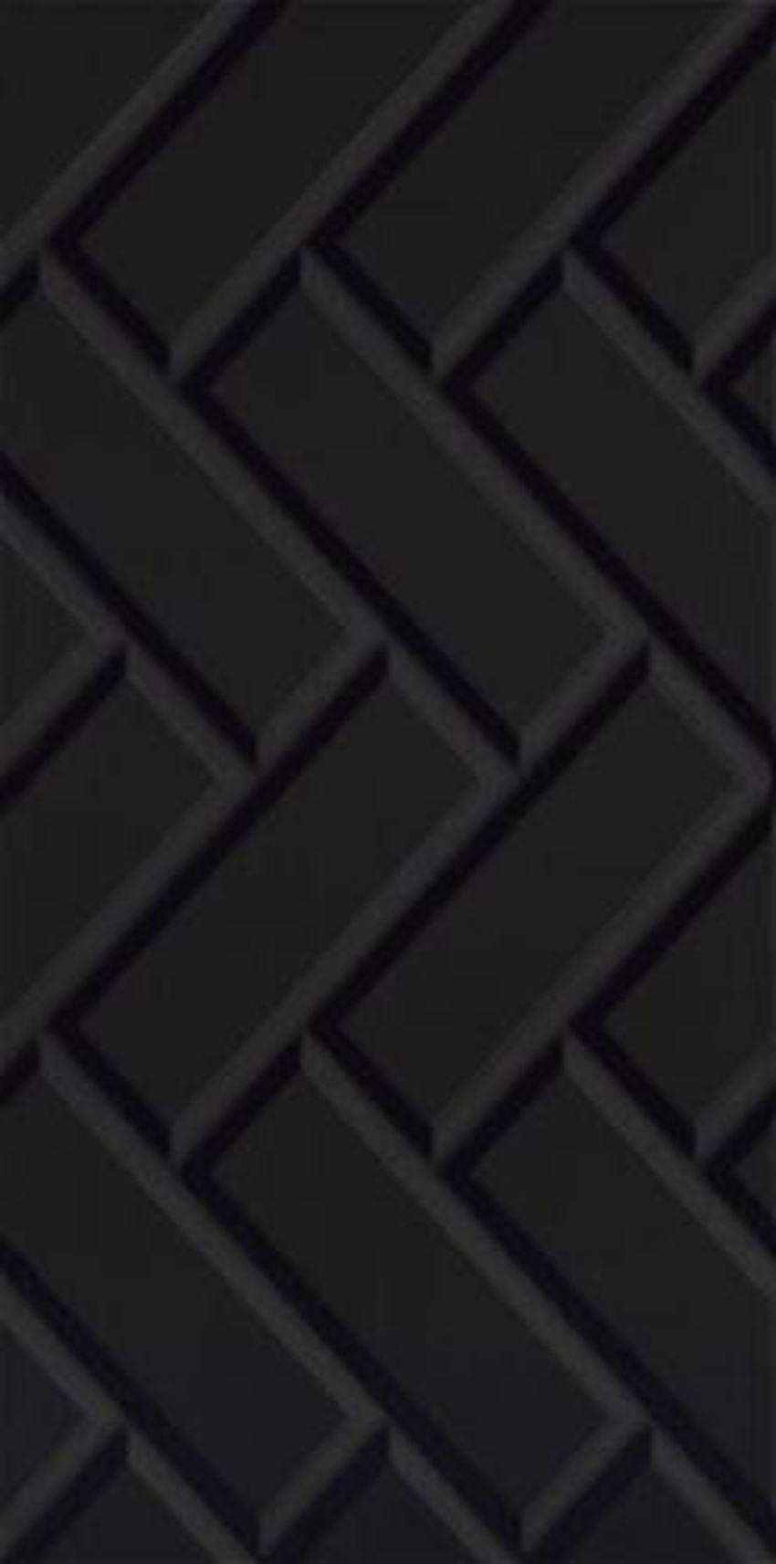 Płytka ścienna 29,5x59,5 cm Paradyż Moonlight Nero Ściana A Struktura Rektyfikacja