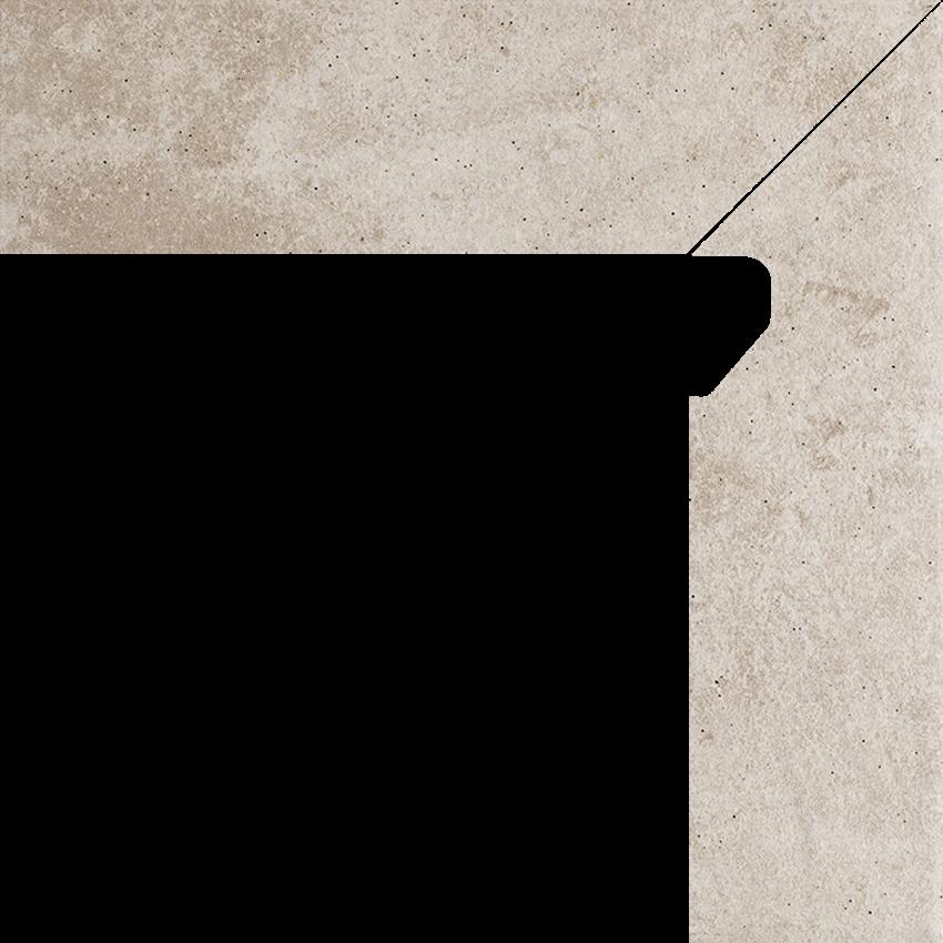 Płytka cokołowa 8,1x30 cm Paradyż Viano Beige Cokół 2 El.-Prawy
