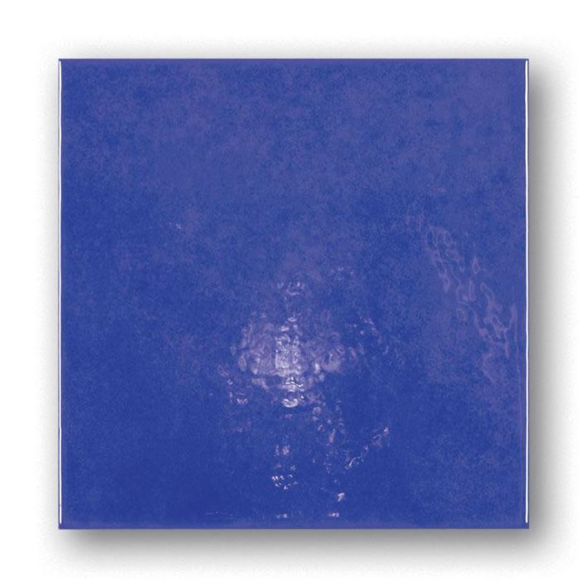 Niebieska płytka ścienna 20x20 Tubądzin Majolika