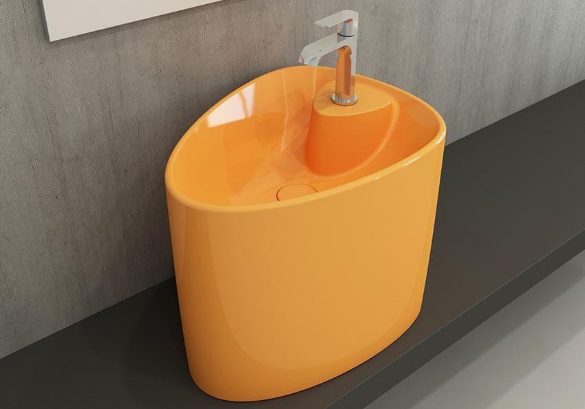 Umywalka nablatowa monoblok Glossy Tangerine Bocchi Etna