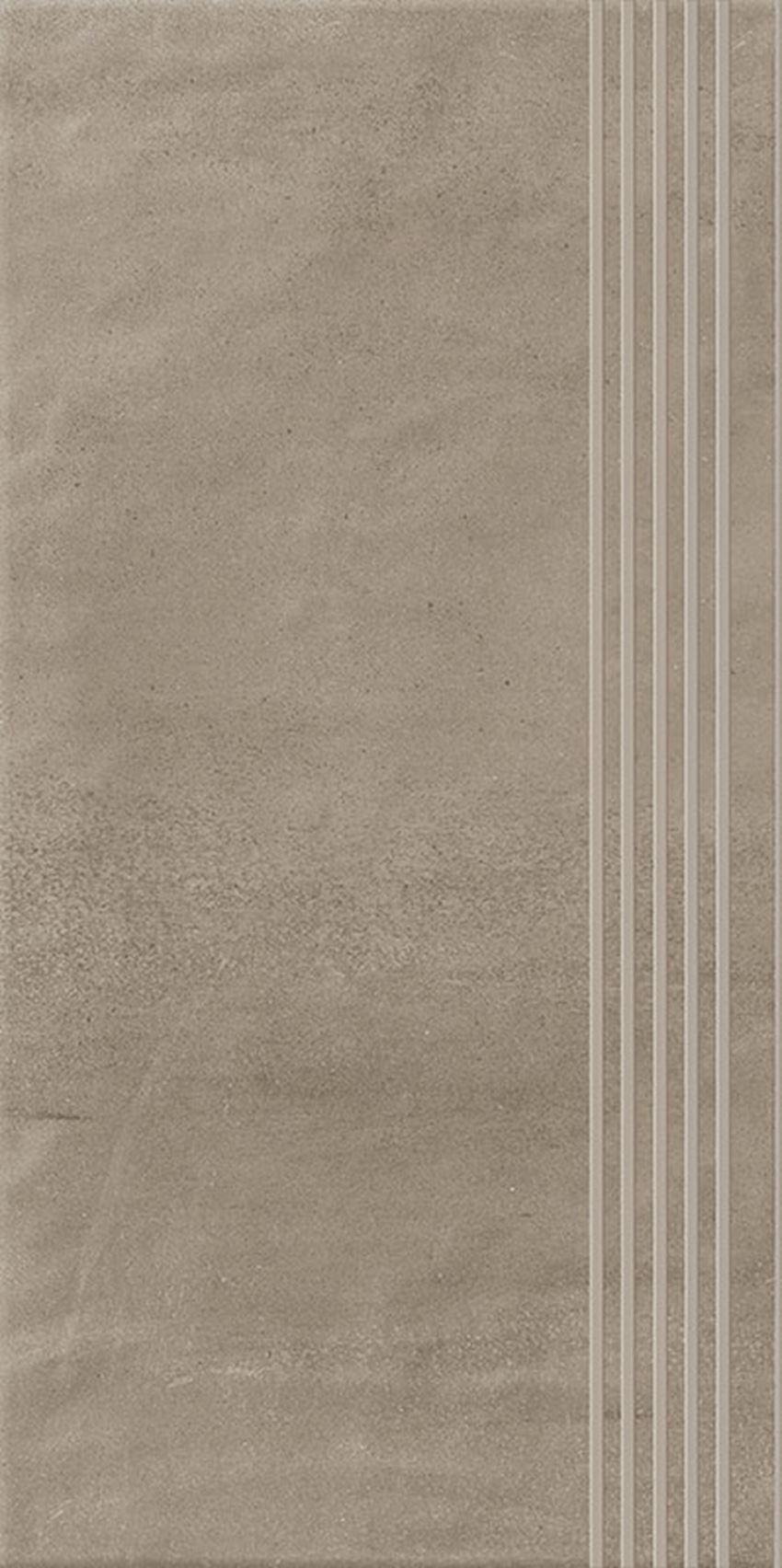Płytka stopnicowa 29,8x59,8 cm Paradyż Hybrid Stone Mocca Stopnica Prosta Nacinana