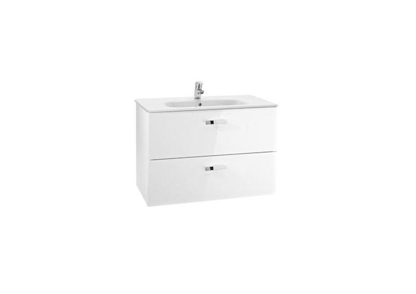 Zestaw łazienkowy biały Unik z 2 szufladami 100x46x56,5 cm Roca Victoria Basic