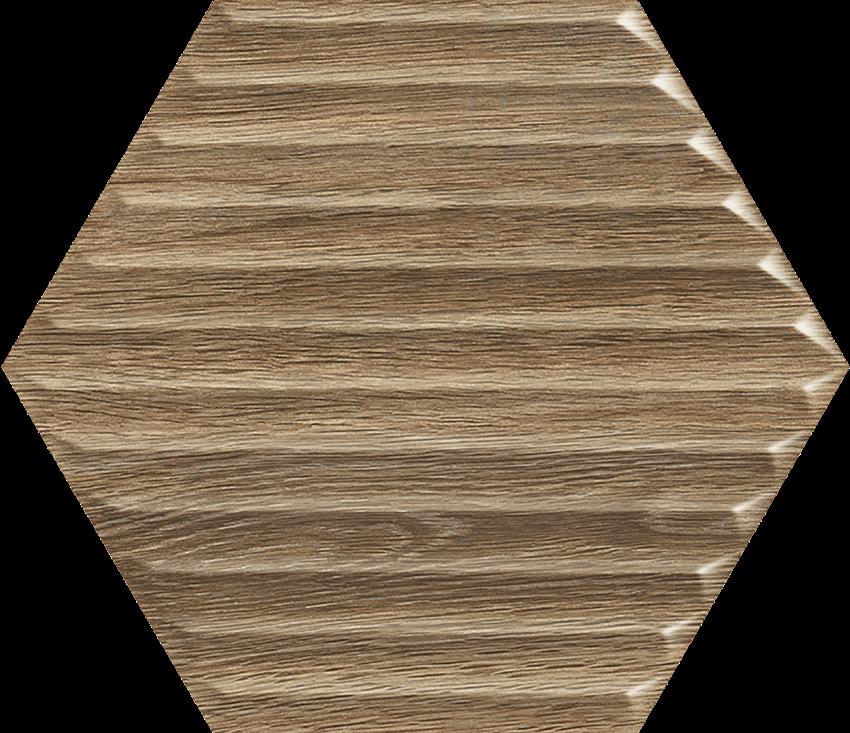 Płytka ścienna 19,8x17,1 cm Paradyż Woodskin Wood Heksagon Struktura B Ściana