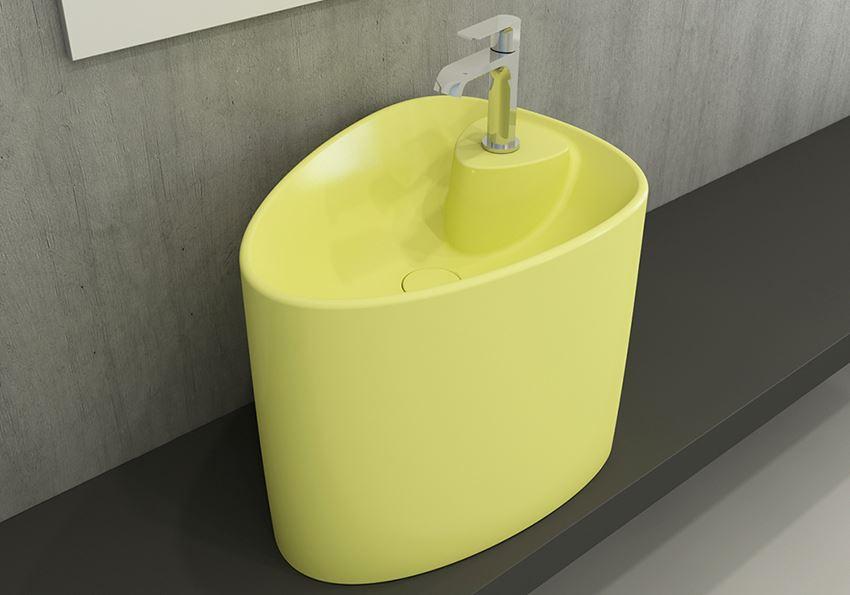 Umywalka nablatowa monoblok Matte Yellow Bocchi Etna
