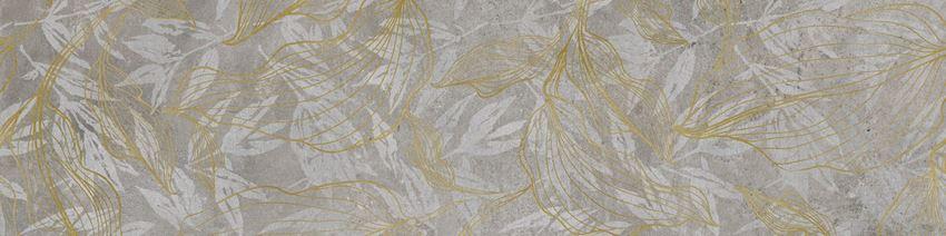 Płytka dekoracyjna 30x120 cm Cerrad Softcement silver flower Poler