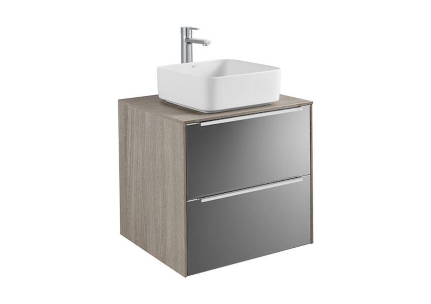 Szafka z blatem pod umywalkę nablatową 60x49,8x55,4 cm Roca Inspira