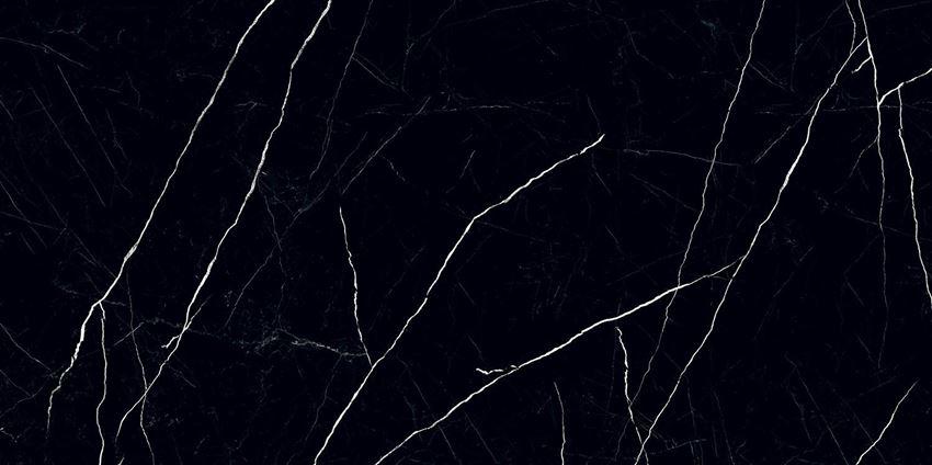 Płytka podłogowa wielkoformatowa 239,8x119,8 cm Tubądzin Black Pulpis POL