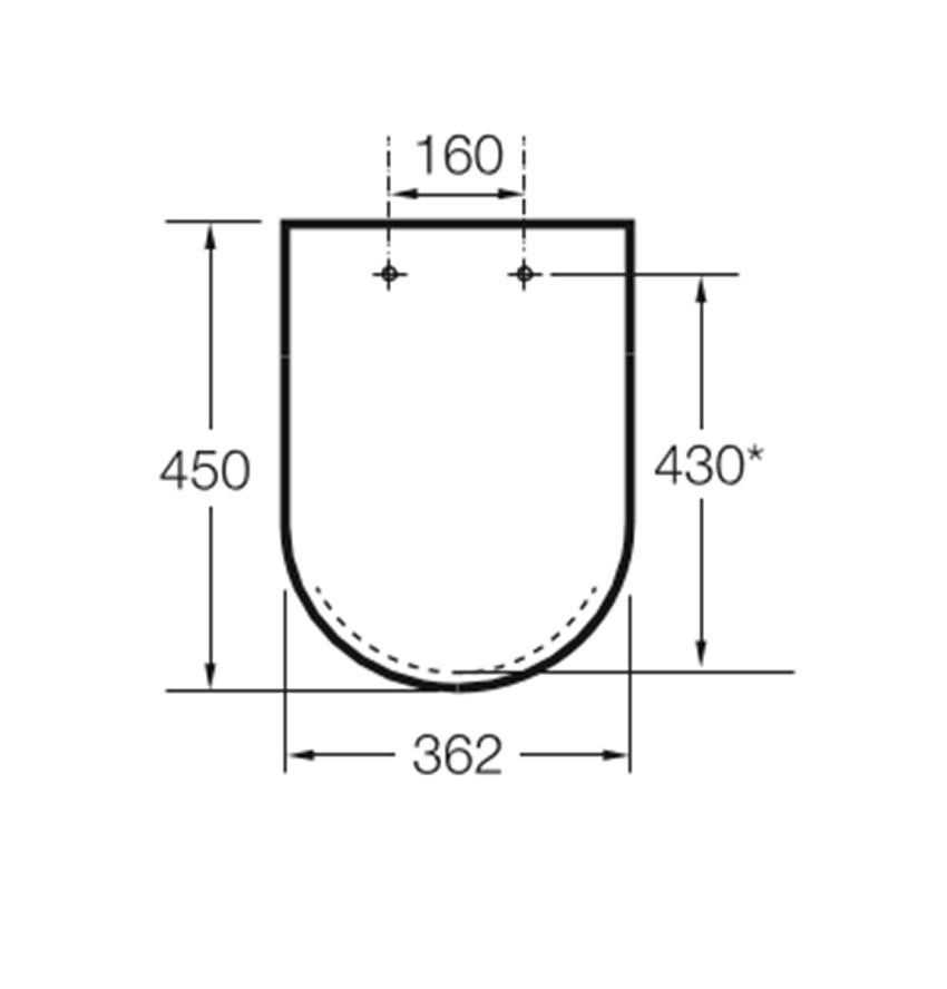 Deska WC wolnoopadająca SUPRALIT ® Roca Meridian rysunek