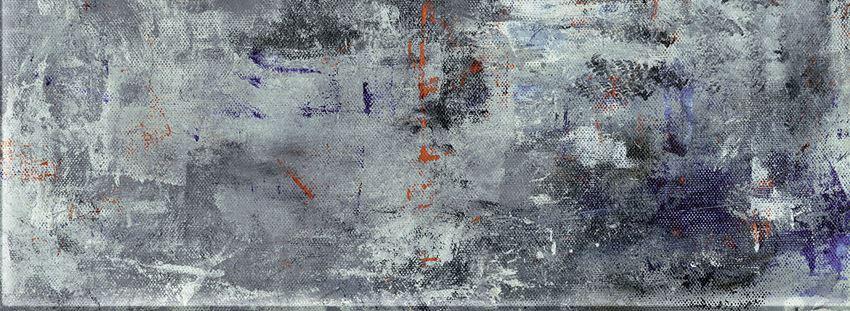 Dekor ścienny 32,8x89,8 cm Tubądzin Grunge blue A