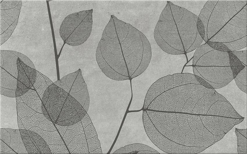 płytka dekoracyjna Cersanit Lussi Light Grey Inserto Leaf A WD439-001