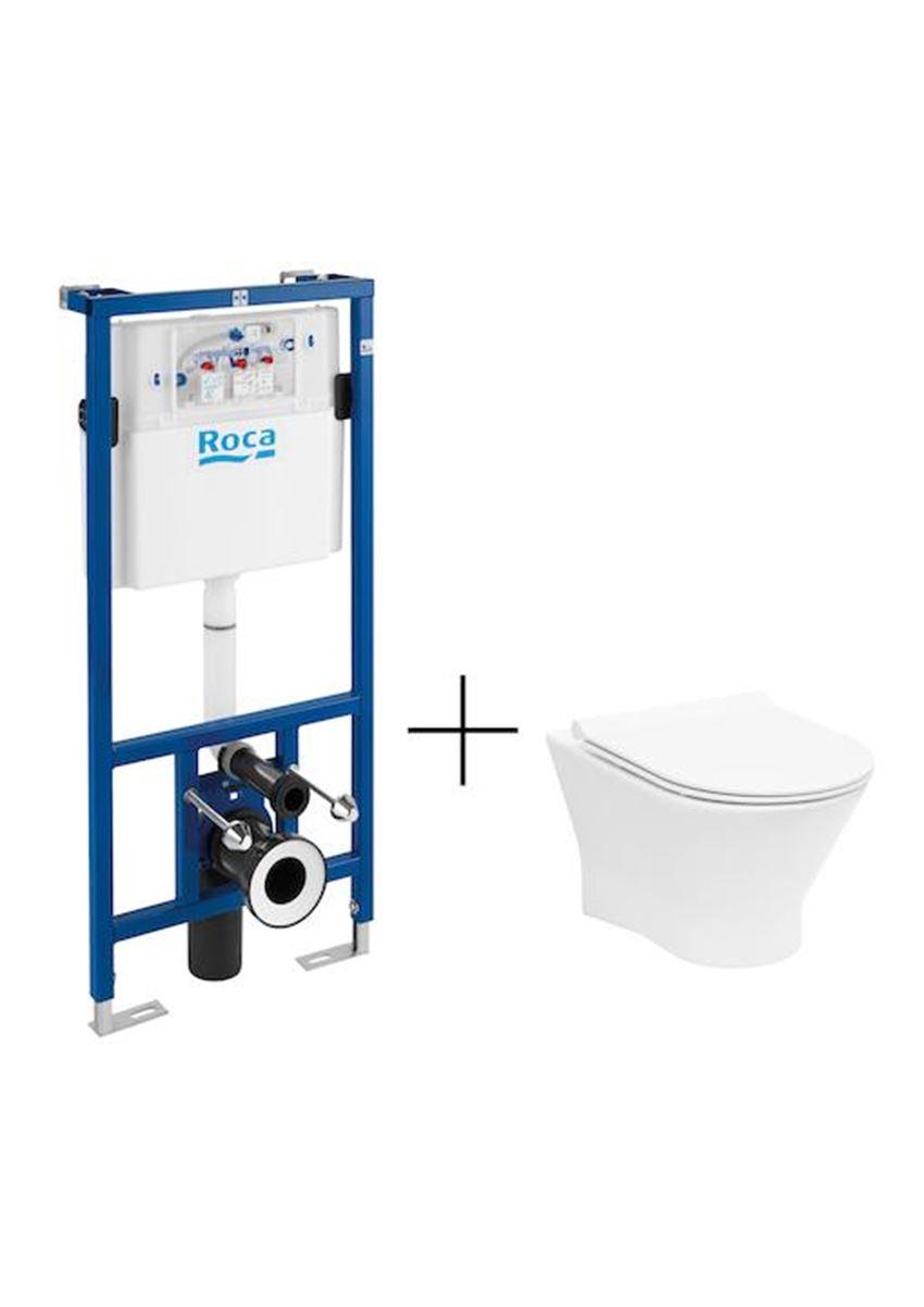 Zestaw podtynkowy Duplo + miska WC podwieszana Nexo 50x67,5x112 cm Roca Nexo