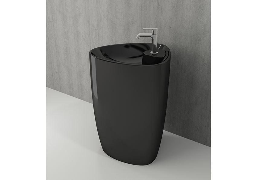 Umywalka monoblok Glossy Black Bocchi Etna