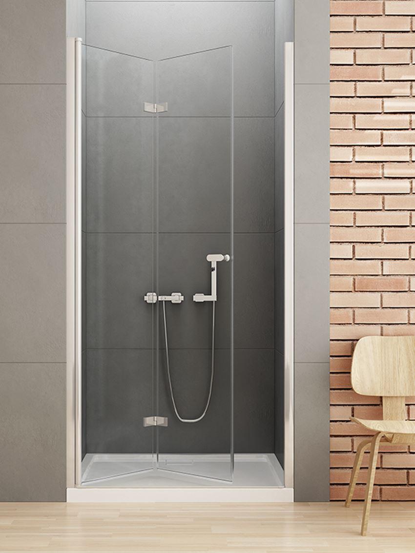 Drzwi prysznicowe składane do wnęki New Trendy New Soleo