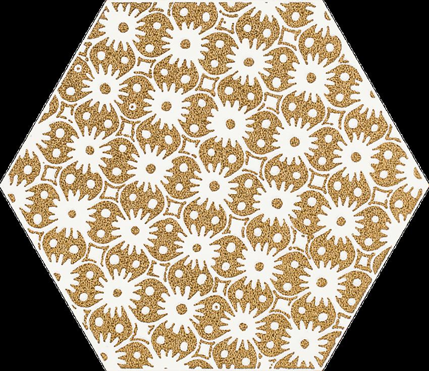 Dekoracja 17,1x19,8 cm Paradyż Shiny Lines Gold Heksagon Inserto D 1