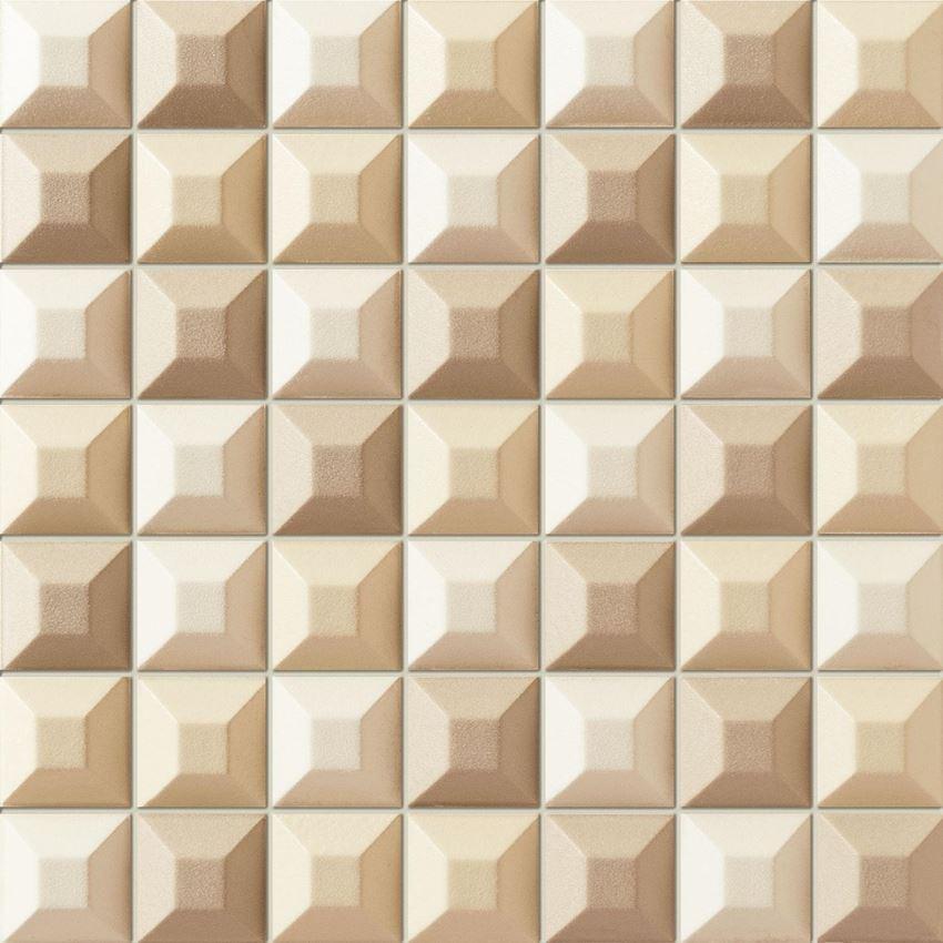 Mozaika ścienna 31,4x31,4 cm Tubądzin Elementary cream