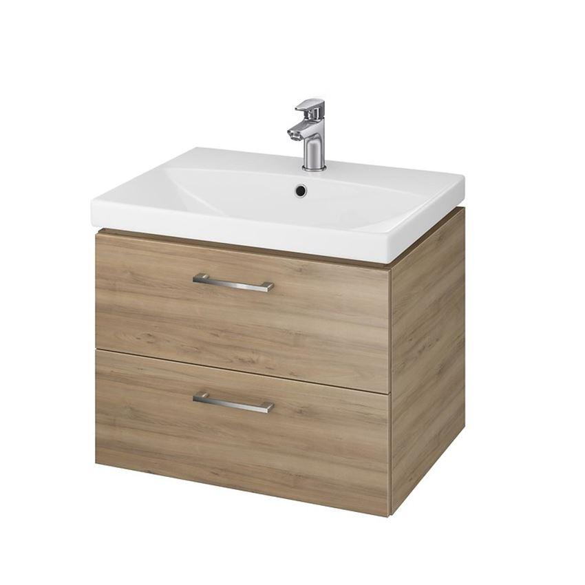 szafka z umywalką Cersanit Lara City 60 Orzech S801-143-DSM