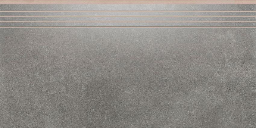 Płytka stopnicowa 29,7x59,7 cm Cerrad Tassero grafit lappato