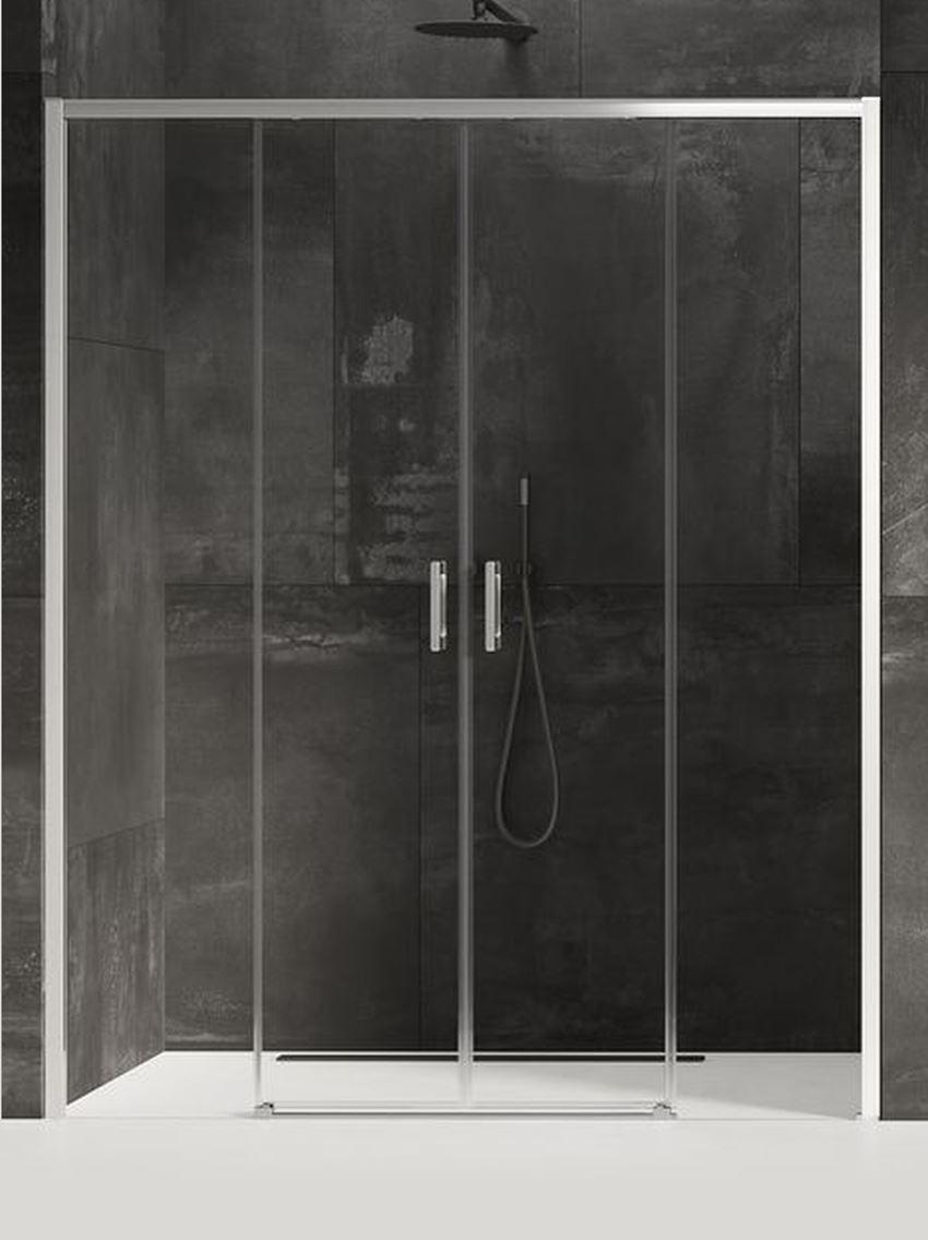 Drzwi prysznicowe podwójne przesuwne New Trendy Prime