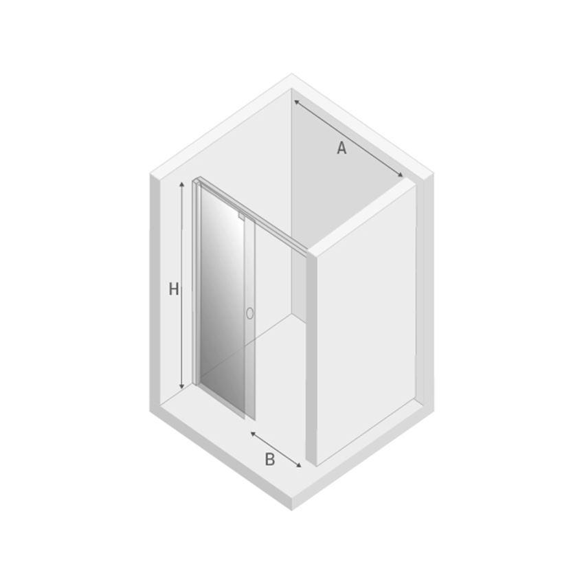Drzwi lewe New Trendy Porta rysunek techniczny