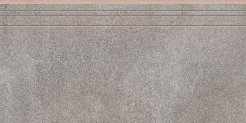 Płytka stopnicowa 29,7x59,7 cm Cerrad Tassero gris