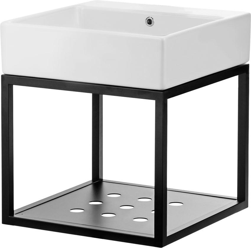 Umywalka stawiana na blacie z konsolą łazienkową wiszącą 50x50 cm Deante Temisto