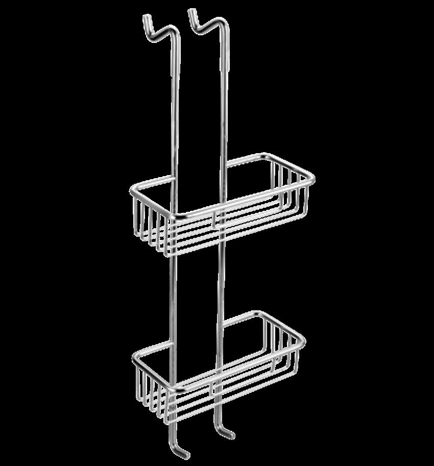Koszyki prysznicowe z haczykami 26x70 cm Omnires Uni