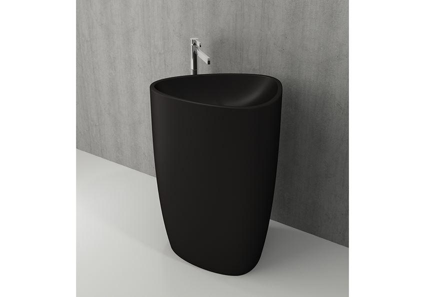 Umywalka wolnostojąca monoblok Matt Black Bocchi Etna