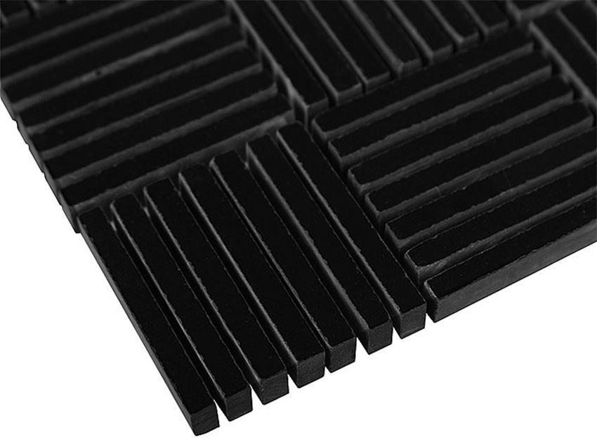 Mozaika 31x30,5 cm Dunin Black&White Pure Black Tatami 48