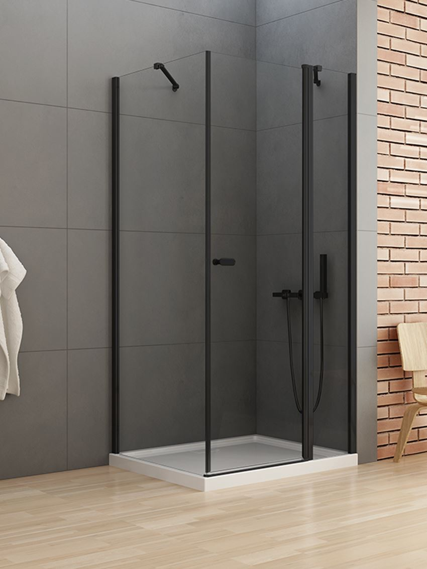 Kabina prysznicowa z pojedyńczymi drzwiami New Trendy New Soleo Black