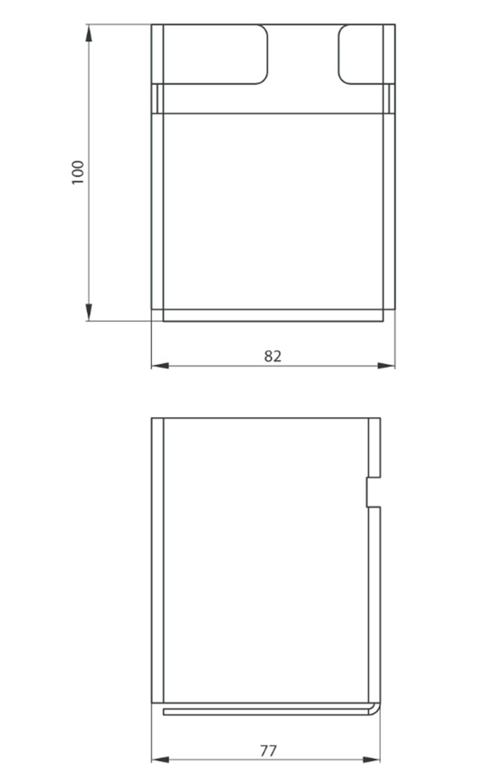 Kubek 100x8,2x7,7 cm Deante Mokko rysunek