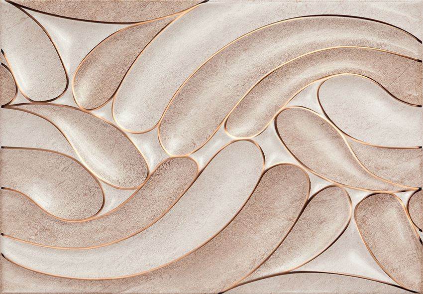 Dekor ścienny 36x25 cm Domino Navara beige