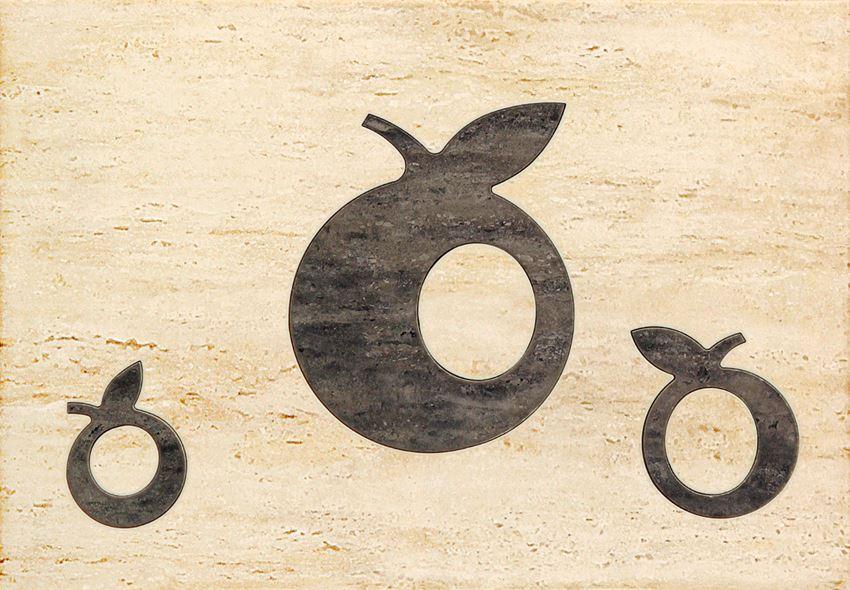 Dekor ścienny 36x25 cm Domino Toscana beż Apple