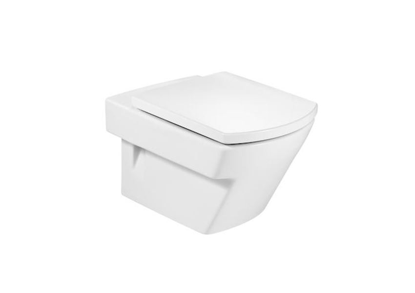 Miska WC podwieszana z powłoką MaxiClean 35,5x56 cm cm Roca Hall