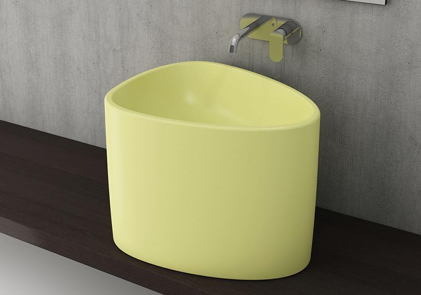 Umywalka nablatowa Matte Yellow Bocchi Etna