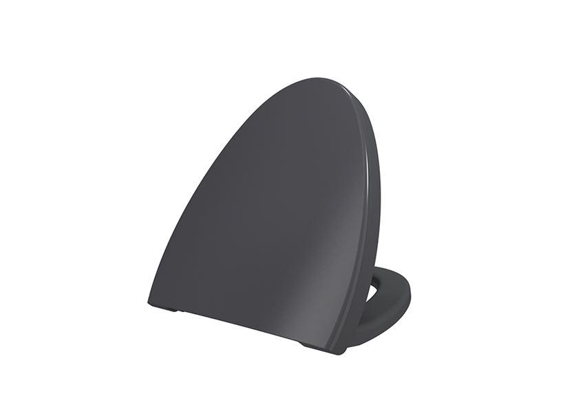 Deska WC duroplast wolnoopadająca Matt Anthracite Bocchi Etna