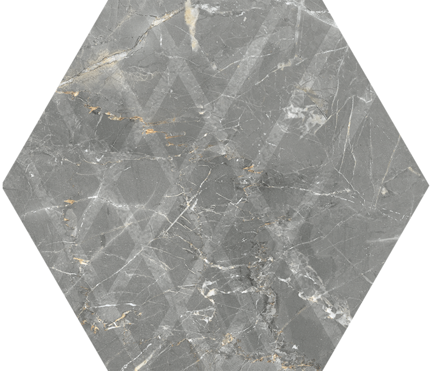 Płytka ścienno-podłogowa 17,1x19,8 cm Paradyż Marvelstone Light Grey Heksagon