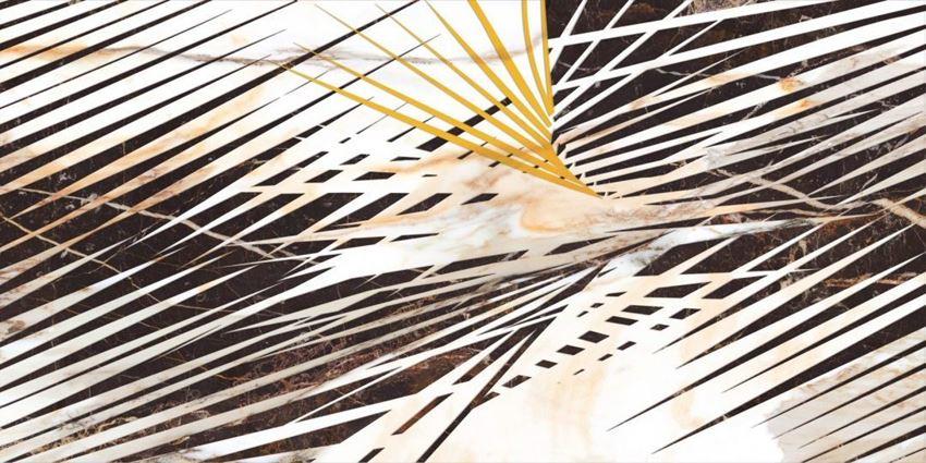 Płytka dekoracyjna 60x120 cm Cerrad Calacatta gold decor B Poler