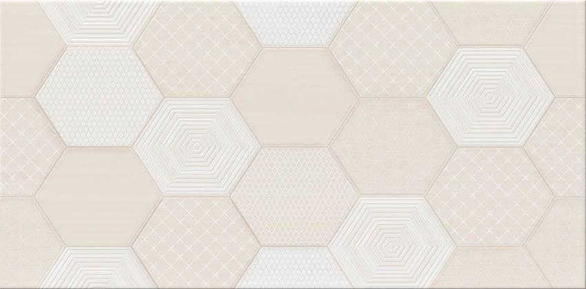 Płytka ścienna 29,7x60 cm Cersanit Ondes cream inserto geo