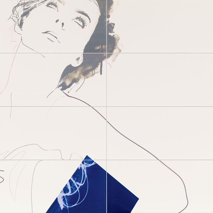 Obraz 8-elementowy 119,8x119,8 cm Tubądzin Berlin Tegel Valerie
