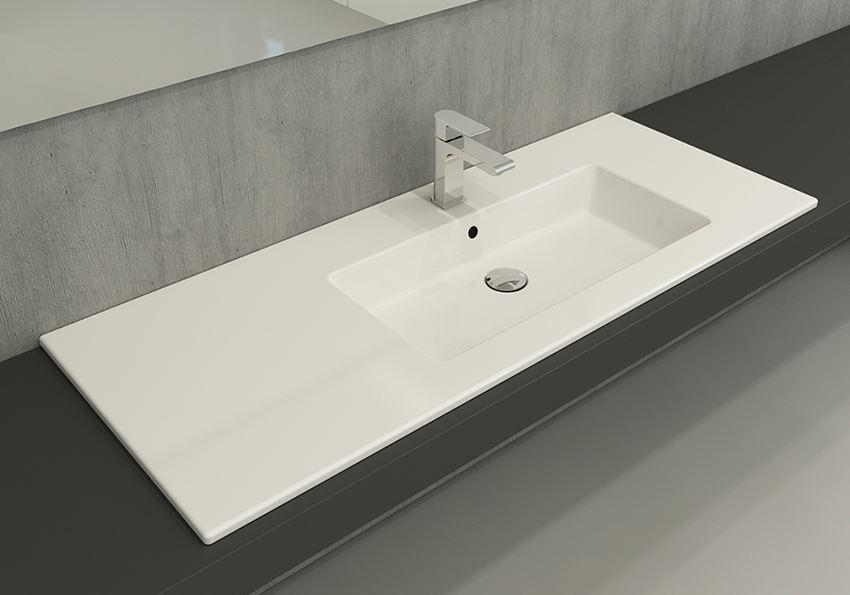 Umywalka meblowa/nablatowa 120 cm Glossy White Bocchi Milano
