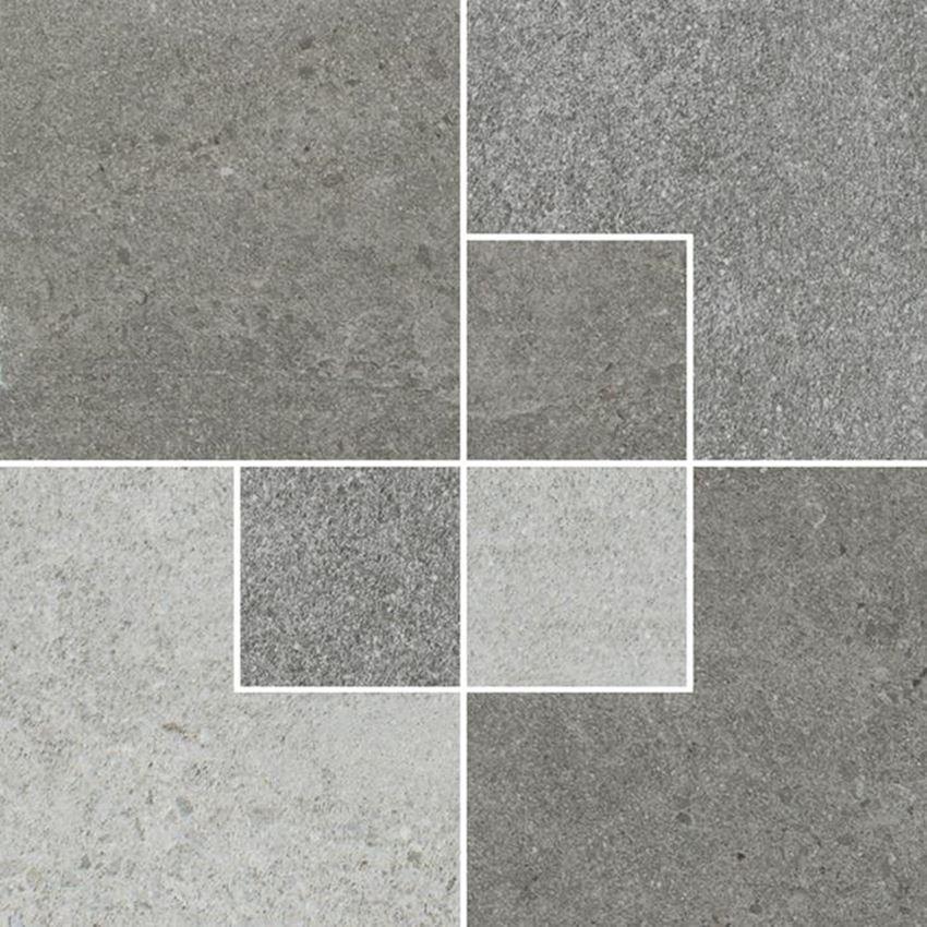Dekoracja podłogowa Paradyż Optimal Antracite Inserto Mat.